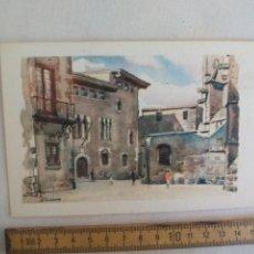 Postales: LLOVERAS, PLAZA DEL REY. SIN CIRCULAR. ARCHIVO DE ARTE BARCELONA AA SERIE A 5 POSTAL. POSTCARD. Lote 169352560