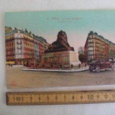 Postales: 12. PARIS. LE LION DE BELFORT. THE BELFORT LION. L'ABEILLE. SIN CIRCULAR POSTAL. POSTCARD. Lote 169353444