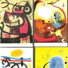 Postales: JOAN MIRÓ.14 POSTALES DE CUADROS DEL FAMOSO PINTOR. Lote 170868750