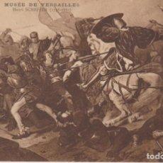 Postales: HENRI SCHEFFER PINTURA DE LA BATALLA DE CASSEL POSTAL NO CIRCULADA. Lote 170926980
