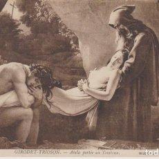 Postales: GIRODET TRIOSON PINTURA ATALA LLEVADA A LA TUMBA 1912 POSTAL CIRCULADA. Lote 171013075