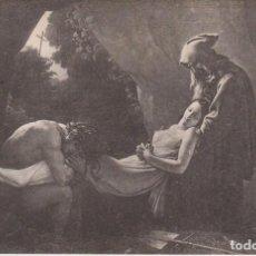 Postales: GIRODET TRIOSON PINTURA ATALA LLEVADA A LA TUMBA 1904 POSTAL CIRCULADA. Lote 171013387