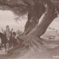 Postales: LOUIS CABANES PINTURA BAJO LOS OLIVOS DE BISKRA POSTAL CIRCULADA. Lote 171013560