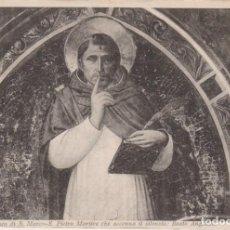 Postales: BEATO ANGELICO PINTURA SAN PEDRO MARTIR 1908 POSTAL CIRCULADA. Lote 171014165