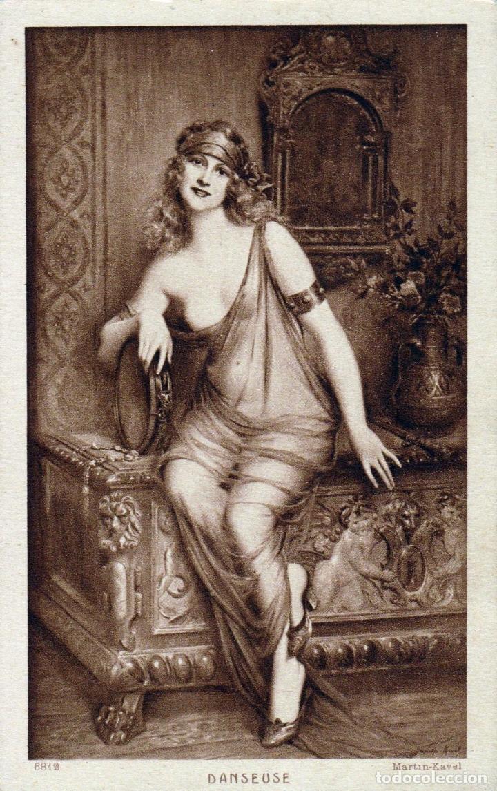 POSTAL OBRA DE FRANÇOIS MARTIN KAVEL (1861-1931) DANSEUSE - ED. BRAUN & CIE, SALON DE PARIS (Postales - Postales Temáticas - Arte)