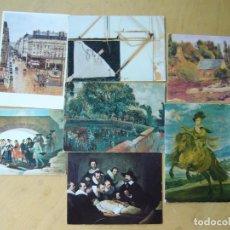 Postales: LOTE 7 POSTALES DE ARTE. Lote 171499669