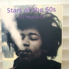 Postales: STARS OF THE 60S HENDRIX WHO STONES BEATLES LIBRO TASCHEN 30 POSTALES. Lote 171514397