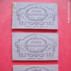 Postales: MUSEO ROMANTICO.-SALON DE ISABEL II.-BIBLIOTECA.-ARCHIVO MILITAR.-LOTE DE 3 BLOC.-LOTE DE 30 POSTALE. Lote 171524218