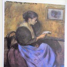 Postales: MUJER SENTADA LEYENDO DE PICASSO. 27 MUSEO PICASSO DE BARCELONA. ESCUDO DE ORO. NUEVA. COLOR. Lote 171659227
