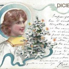 Postales: POSTAL MODERNISTA DICIEMBRE. 1901. 13,5 X 9 CM.. Lote 172714822