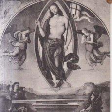 Postales: PERUGINO PINTURA LA RESURRECCION DE CRISTO POSTAL NO CIRCULADA. Lote 173060798