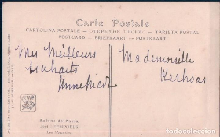Postales: POSTAL SALON DE PARIS - JEEF LEEMPOELS - LES MOUETTES - Foto 2 - 173092363
