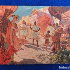 Postales: POSTAL ANTIGUA. DEL CUADRO LA LITIERE. DE: GEORGES-ANTOINE ROCHEGROSSE. SALÓN DE PARIS 1912. FRANCIA. Lote 173562940
