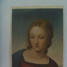 Postales: POSTAL DE LA MADONNA DEL CARDELLINO DE RAFAEL . ITALIA , AÑOS 50. Lote 173599355