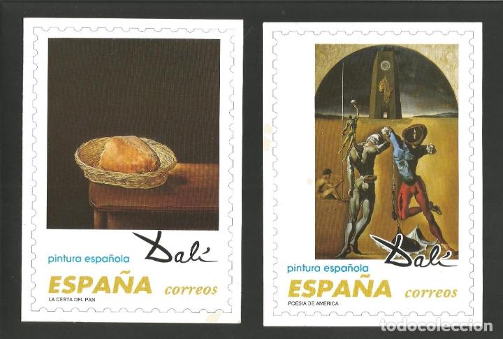 Postales: DALI-LOTE DE 8 POSTALES DE CUADROS DE SALVADOR DALI-PUBLICIDAD CORREOS-VER REVERSO-(61.377) - Foto 2 - 173658918