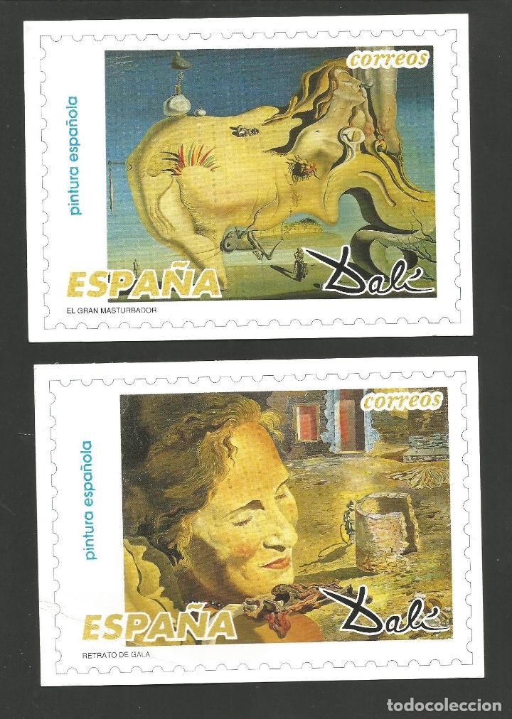 Postales: DALI-LOTE DE 8 POSTALES DE CUADROS DE SALVADOR DALI-PUBLICIDAD CORREOS-VER REVERSO-(61.377) - Foto 5 - 173658918