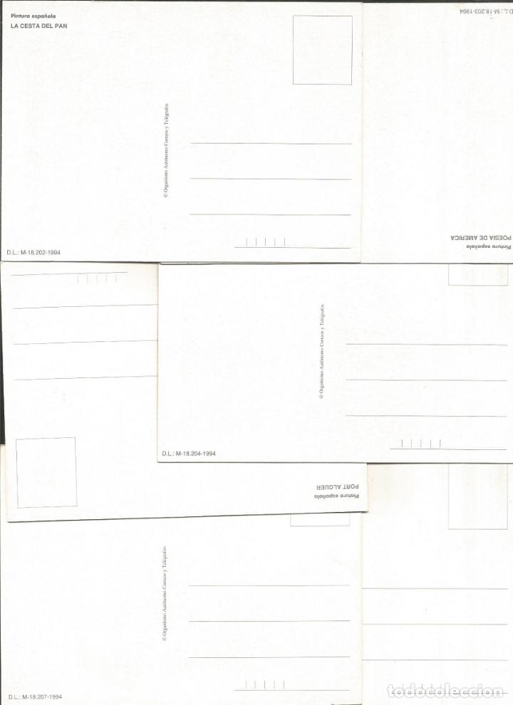 Postales: DALI-LOTE DE 8 POSTALES DE CUADROS DE SALVADOR DALI-PUBLICIDAD CORREOS-VER REVERSO-(61.377) - Foto 6 - 173658918