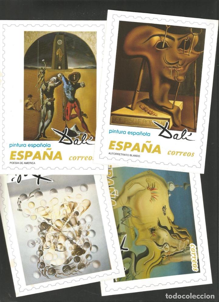 DALI-LOTE DE 8 POSTALES DE CUADROS DE SALVADOR DALI-PUBLICIDAD CORREOS-VER REVERSO-(61.377) (Postales - Postales Temáticas - Arte)