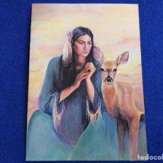 Postales: POSTAL ARTÍSTICA. DOE WOMAN. DOE MUJER. HECHA EN USA. SPIRIT ART.. Lote 174078799