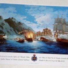 Postales: POSTAL - PINTURA DE ESTEBAN ARRIAGA, DERROTA DE LA ESCUADRA INGLESA DEL ALMIRANTE NELSON. Lote 174411577