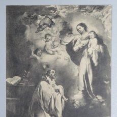 Postales: POSTAL. LA APARICION DE LA VIRGEN A SAN BERNANDO. MURILLO. MUSEO PRADO. LACOSTE. 978. SC. Lote 175200889