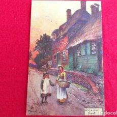 Postales: ANTIGUA POSTAL INGLESA. TUCKS POST CARD. PINTURA MADRE CON HIJA. AT EASTRY KENT. Lote 175397659