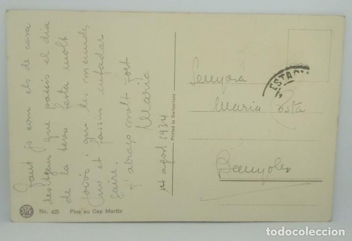 Postales: Pins au Cap Martin. Postal enviada a Banyoles Nº425 - Foto 3 - 175960428