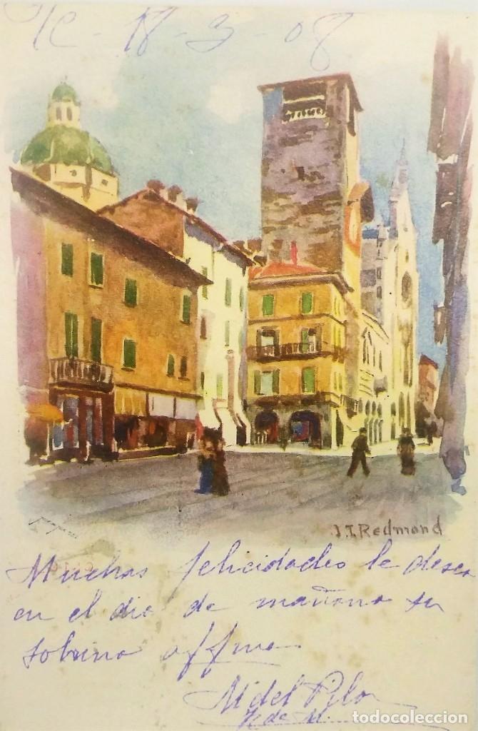 1908 J.I. REDMOND (VER SELLO) (Postales - Postales Temáticas - Arte)