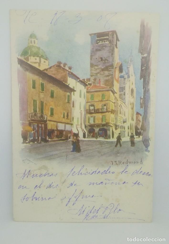 Postales: 1908 J.I. Redmond (ver sello) - Foto 2 - 175975914