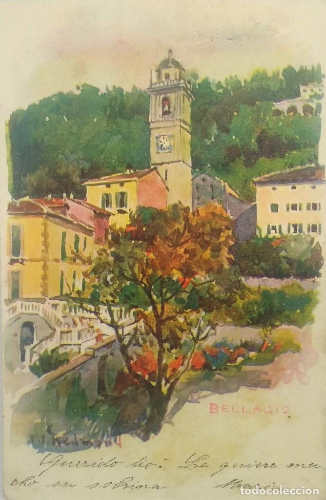 Bellagio. Italia. Postal original circulada. Ver sello
