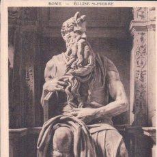 Postales: POSTAL MICHEL ANGELO - MOISE . ROME EGLISE ST PIERRE - BRAUN. Lote 176366624