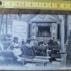 Postales: REEDICIÓN DE POSTAL FRANCESA DE TEATRO CALLEJERO LE CHAMPS ELISEES DE PARÍS. Lote 176679583