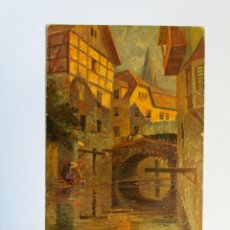 Postales: ANTIGUA TARJETA POSTAL ARTE - ED. A.S.M. & S. Nº 611 - PUENTE DE LA PUEBLA. Lote 176821572