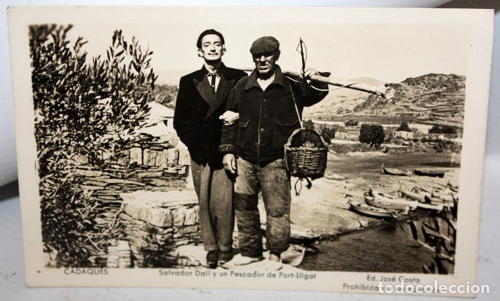 FOTO POSTAL DE SALVADOR DALÍ. CADAQUES, PORT-LLIGAT (GIRONA). ED. JOSÉ COSTA. SIN CIRCULAR (Postales - Postales Temáticas - Arte)