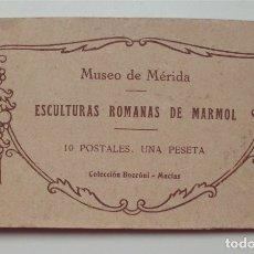 Postales: MUSEO DE MÉRIDA. ESCULTURAS ROMANAS DE MÁRMOL. 10 POSTALES. COLECCIÓN BOCCÓNI-MACÍAS . Lote 177181424