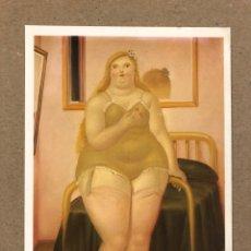 Postales: FERNANDO BOTERO, LA CHAMBRE (1979). POSTAL SIN CIRCULAR. EDITIONS HAZAN (PARIS). 10,6 X 15,1 CMS. Lote 177301144