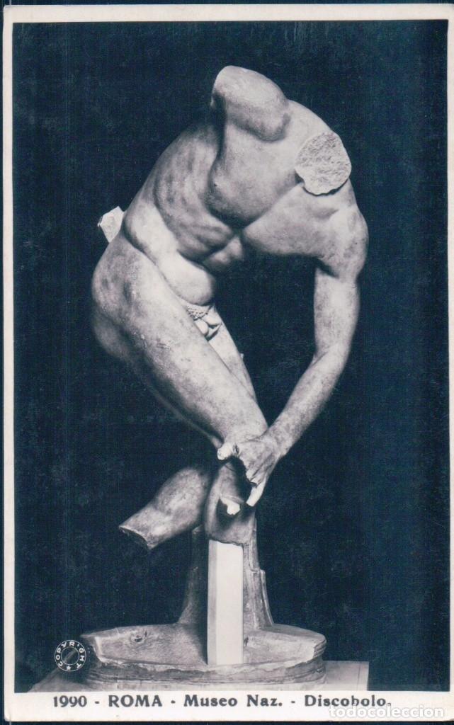 POSTAL ESCULTURA ROMA - MESEO NAZ - DISCOBOLO - D. ANDERSON (Postales - Postales Temáticas - Arte)