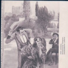 Postales: POSTAL SALON DE 1911 - JEAN SALA - FLIRT ANDALOU - ANDALUCIA FLAMENCO GITANA . Lote 177657118