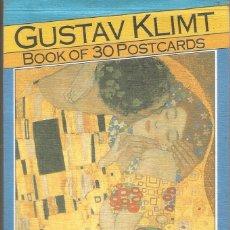 Postales: GUSTAV KLIMT. BOOK OF 30 POSTCARDS. 30 POSTALES. Lote 177711129