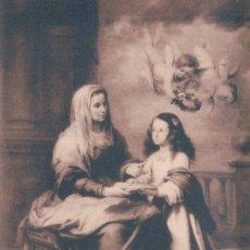 Postales: POSTAL MURILLO - SANTA ANA DANDO LECCION A LA VIRGEN - MUSEO DEL PRADO - HAUSER 968. Lote 178268806