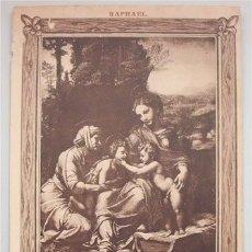 Postales: ANTIGUA TARJETA POSTAL - SAGRADA FAMILIA - RAPHAEL - MUSEO DEL LOUVRE. Lote 178310745