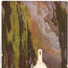 Postales: 3 POSTALES DE OBRAS DEL PINTOR ENRIQUE SERRA AUQUE. CIRCULADAS HACIA 1915.. Lote 178783605