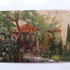 Postales: ANTIGUA TARJETA POSTAL - JARDÍN RECREO DE NOVICIOS - GRAN LICOR CARMELITANO - MONASTERO . Lote 178863775