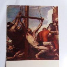 Postales: ANTIGUA TARJETA POSTAL - RIBERA - MARTIRIO DE SAN BARTOLOME - MUSEO DEL PRADO. Lote 178869123