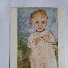 Postales: TARJETA POSTAL - PINTURA - PAULA MODERSOHN-BECKER - RETRATO DE UNA NIÑA . Lote 178874400