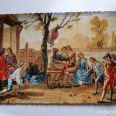 Postales: TARJETA POSTAL - PINTURA - BAYEU - TAPIZ - EL JUEGO DE BOLOS - EDITORIAL PATRIMONIO NACIONAL. Lote 178875877