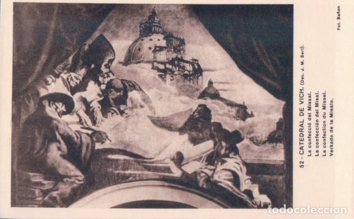 POSTAL VICH - CATEDRAL - LA CONFECCION DEL MISAL - J.M. SERT - ED MUMBRU - NUEVA - Nº 52 (Postales - Postales Temáticas - Arte)
