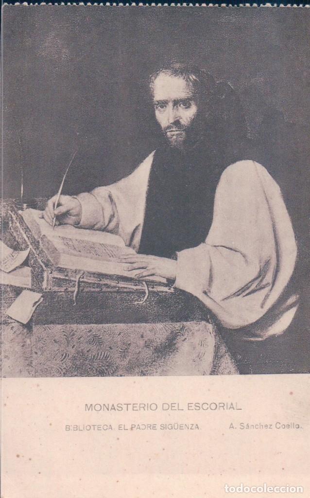 POSTAL MONASTERIO DEL ESCORIAL - BIBLIOTECA EL PADRE SIGUENZA - A. SANCHEZ COELLO- HAUSER (Postales - Postales Temáticas - Arte)