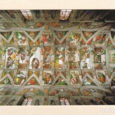Postales: POSTAL CAPILLA SIXTINA. MUSEOS DEL VATICANO - BOVEDA. MIGUEL ANGEL.. Lote 178905796