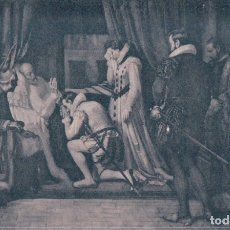 Postales: POSTAL DE MADRID. MONASTERIO DE EL ESCORIAL. ULTIMOS MOMENTOS DE FELIPE II. F- JOVER - LACOSTE. Lote 178981113